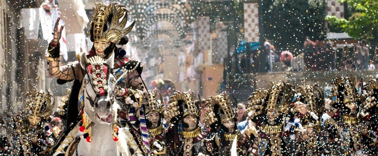 ALCOY (Alicante) Moors and Christians Fiestas 2016, 22nd to the 24th of April.