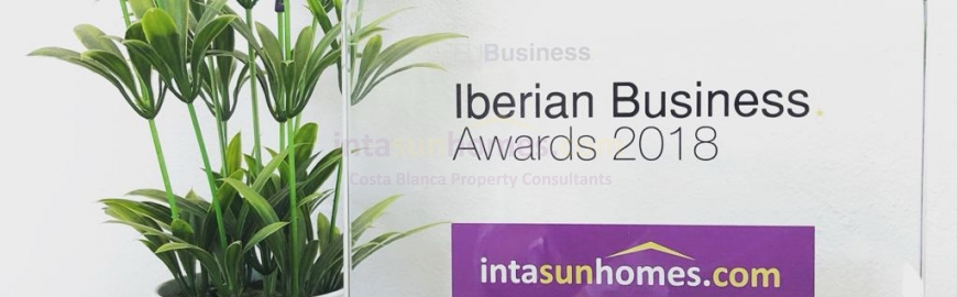 The Iberian Business award for Best Residential Estate Agency in South East Spain 2018!