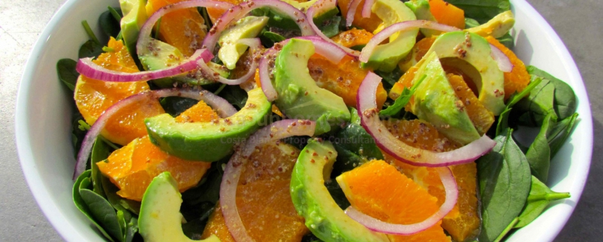 Orange and Avocado Salad with Orange Mustard Dressing