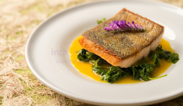 Hake In Orange and Saffron Sauce